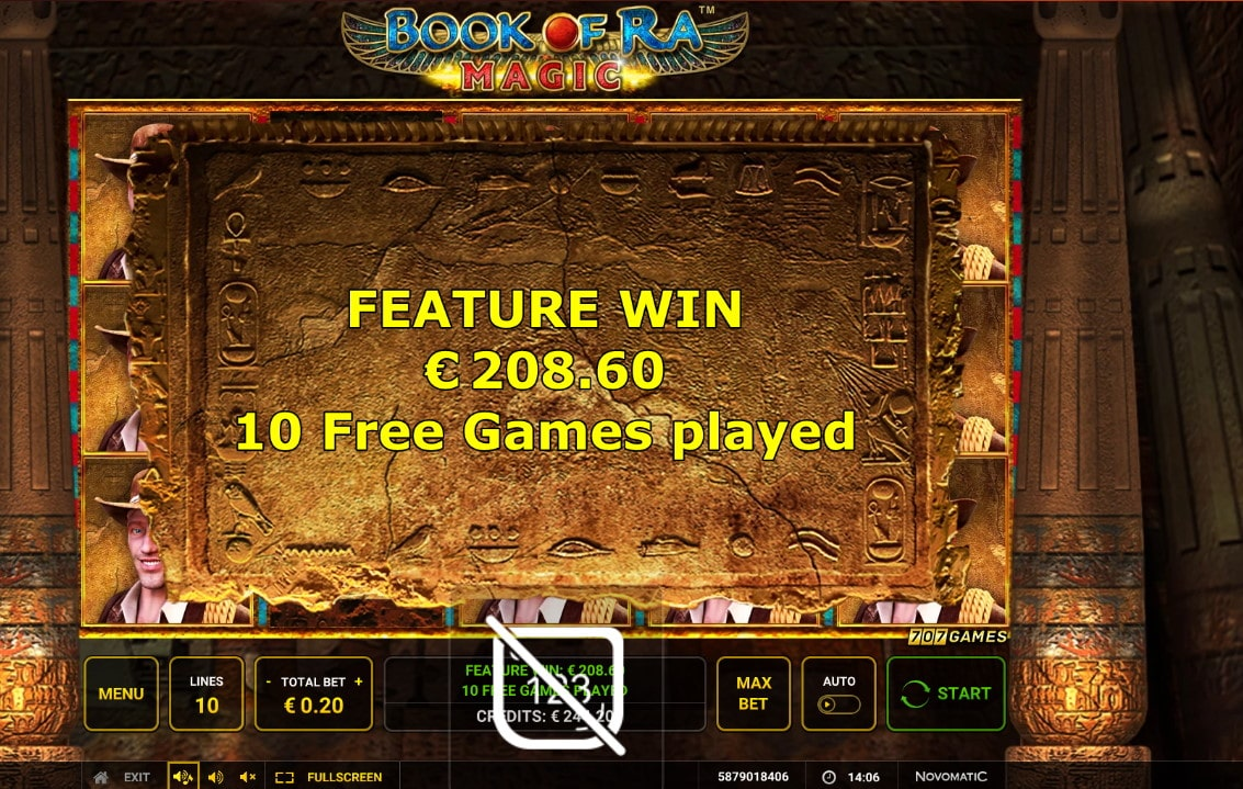 Book of ra magic Big win Picture