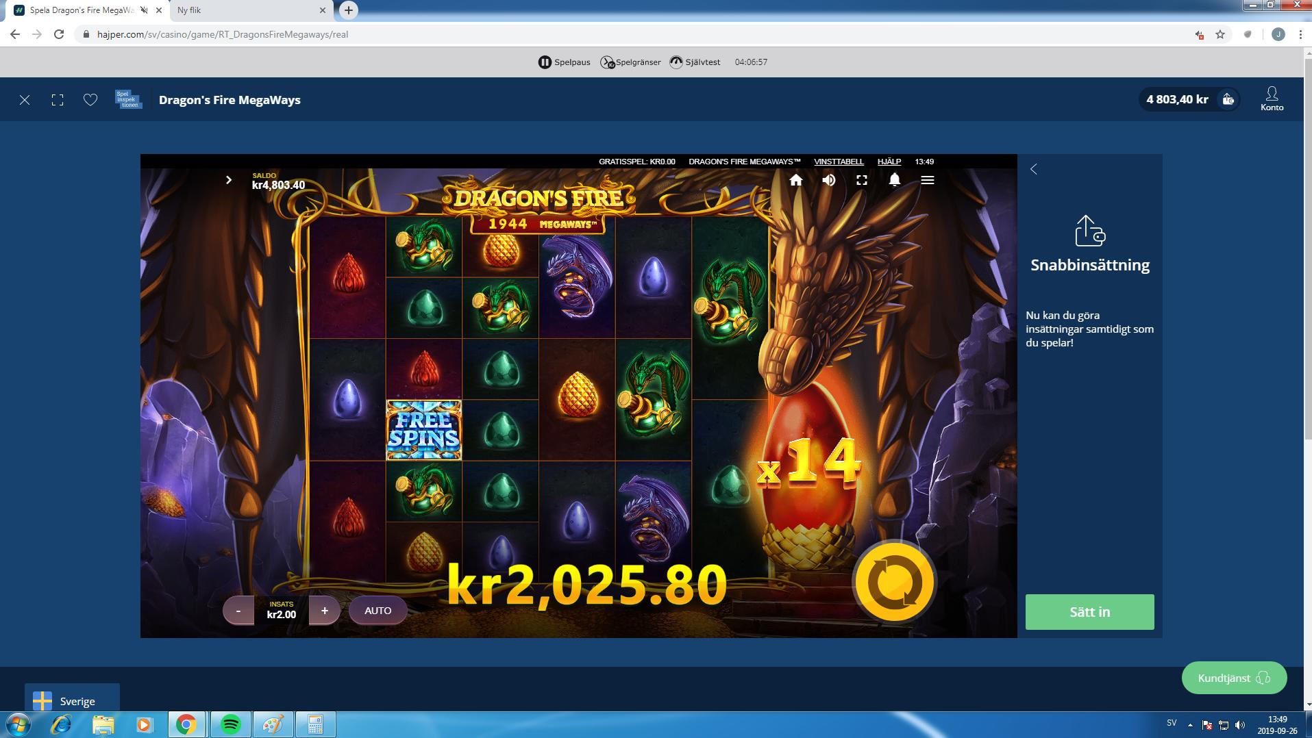 Dragon's Fire Megaways Big Win Picture