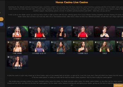 Horus Live Casino