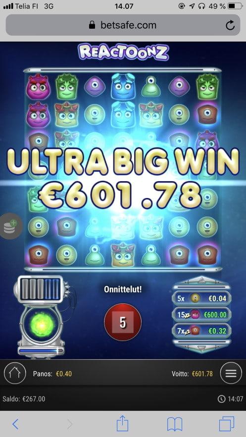 Reactoonz Big Win Picture