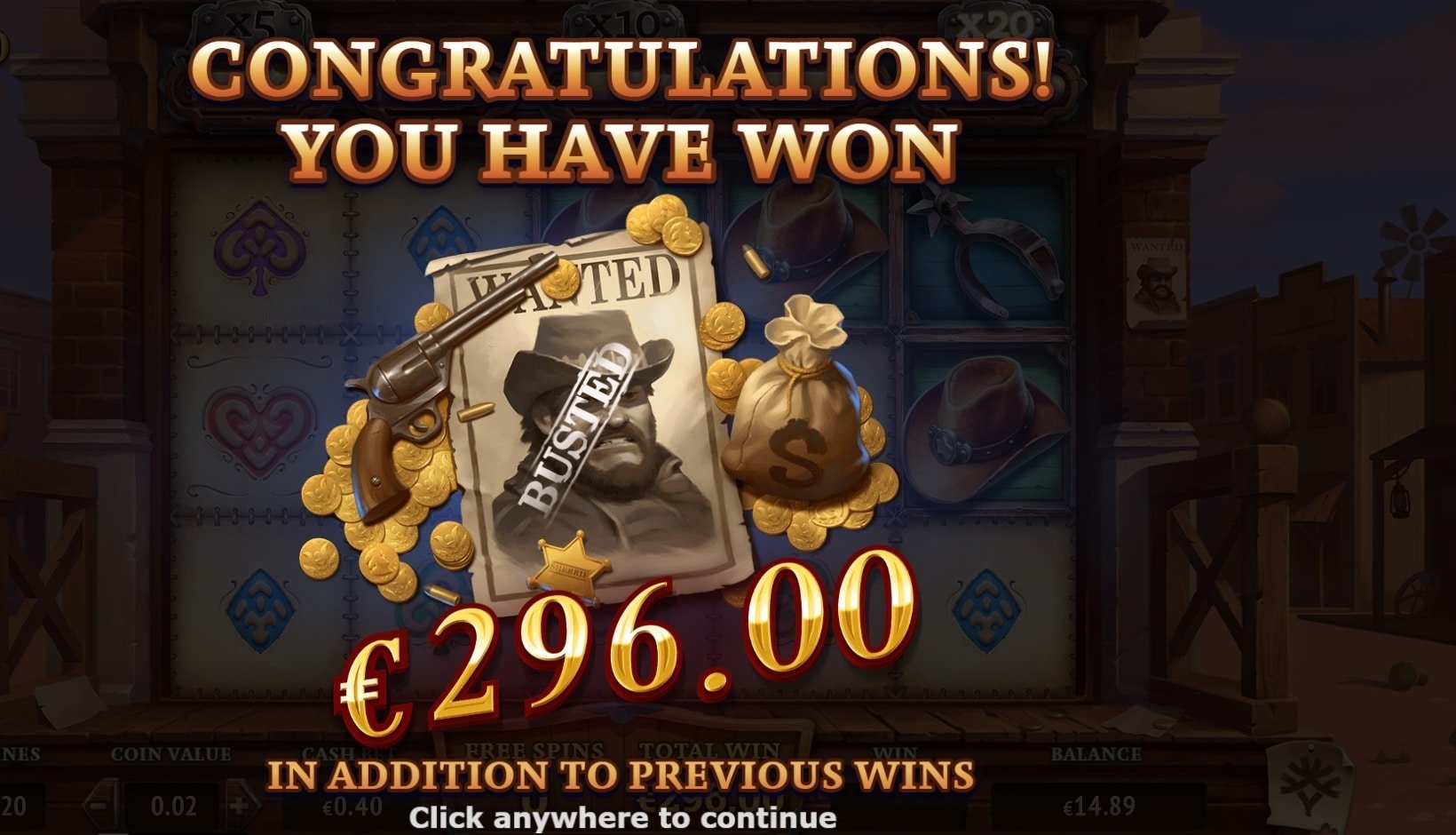 The one armed Bandit Big win picture