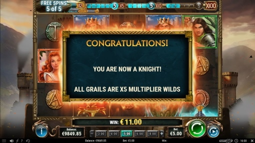 The sword and the grail Free Spins re trigger Screenshot