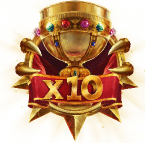 The sword and the grail Wild x10 Symbol