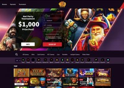 Wildblaster Casino Lobby