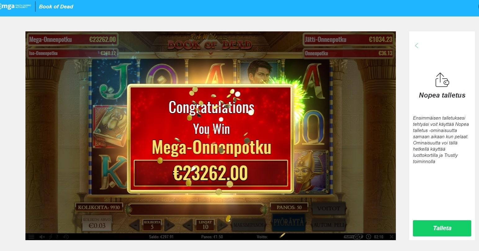 Book of dead Slot big win picture