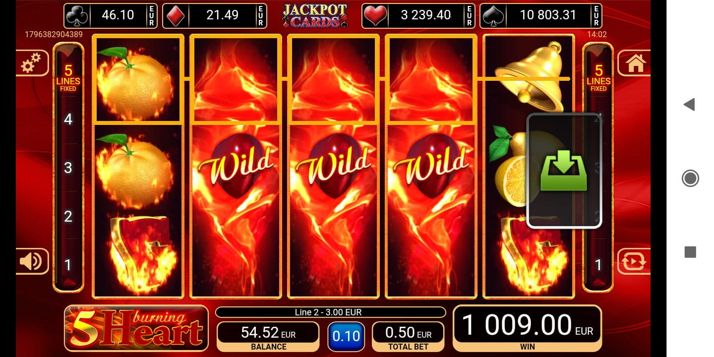 Burning Heart Big win picture