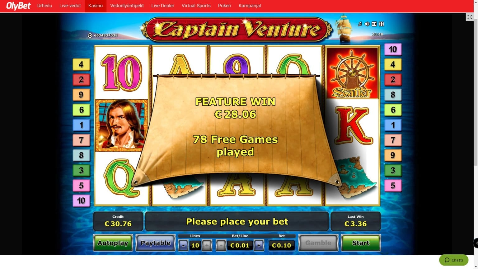 Captain Venture Slot big win picture