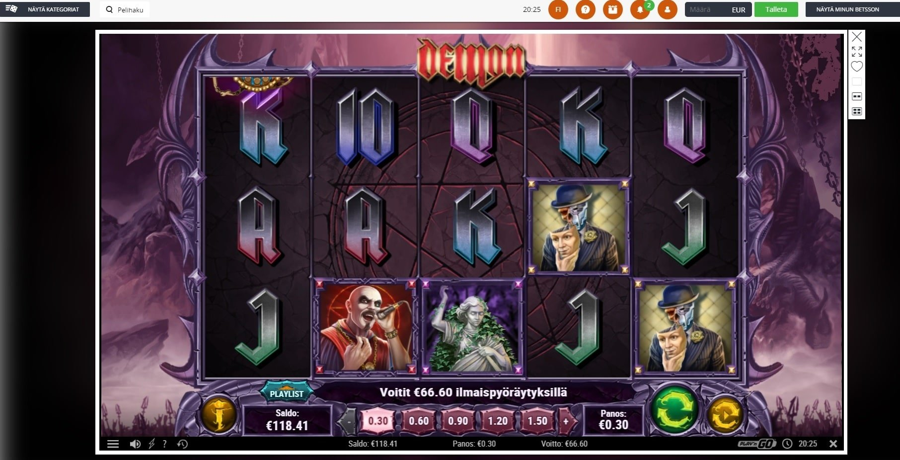 Demon Slot big win picture