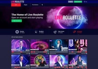 LiveRoulette Casino Lobby