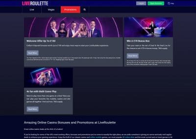 LiveRoulette Casino Promotions