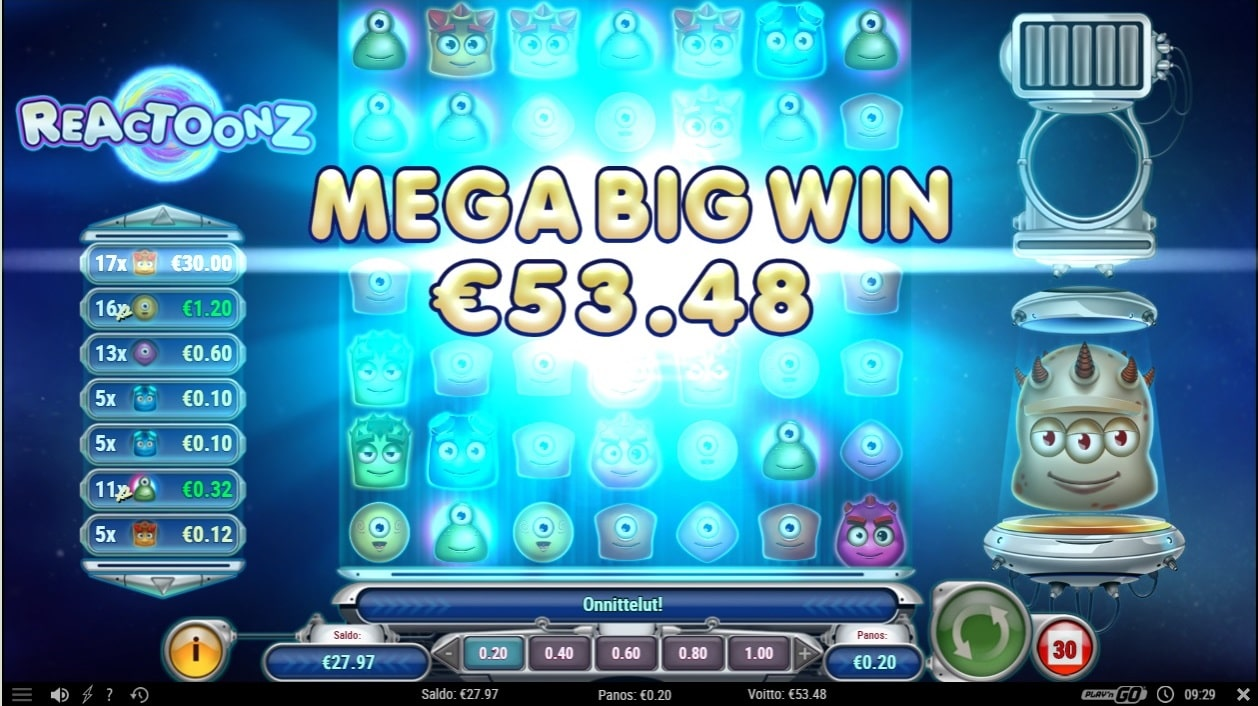 Reactoonz Slot big win picture