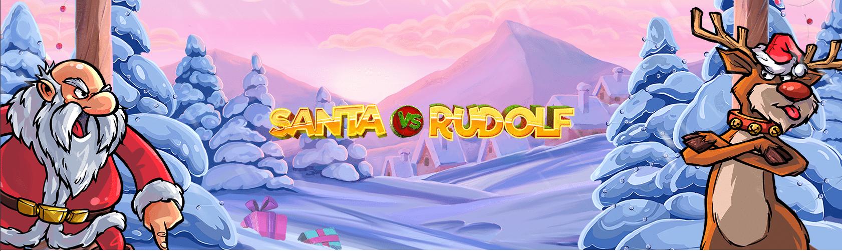 Santa Vs Rudolf slot logo