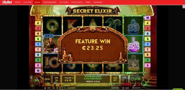 Secret Elixir Slot big win picture