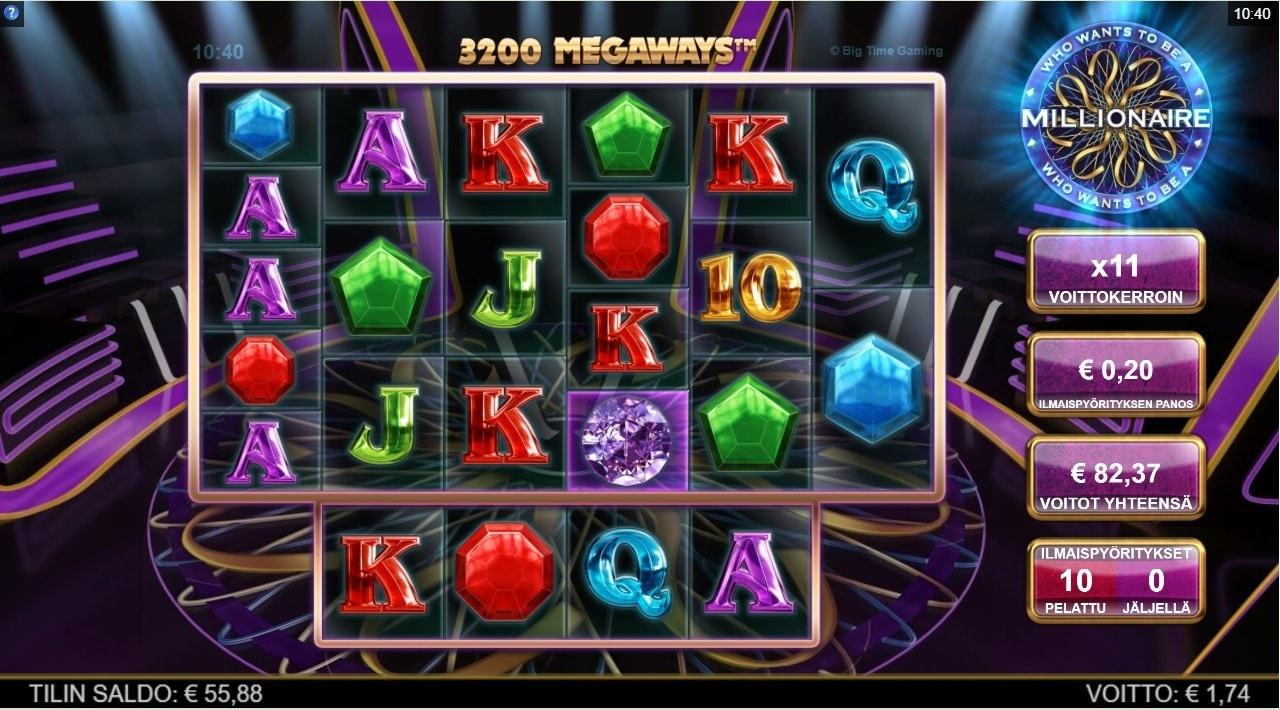 Who Wants to be a Millionaire Slot big win picture
