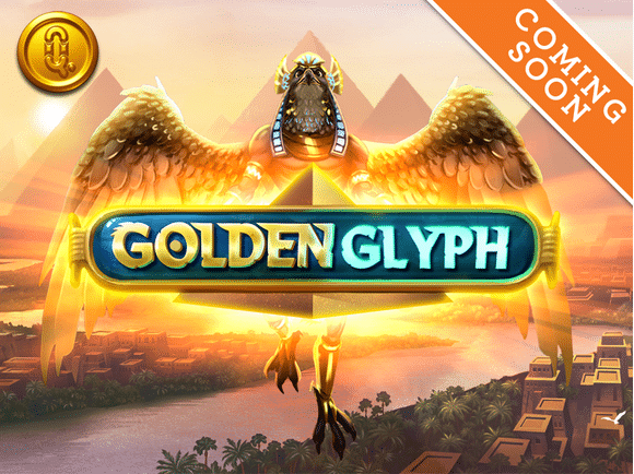 golden glyph slot logo