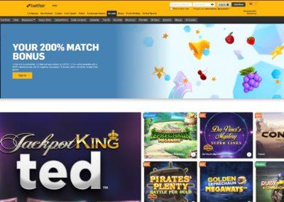 Betfair Arcade Casino Lobby