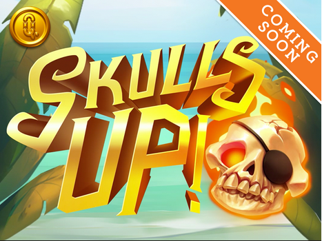 skulls up! slot logo