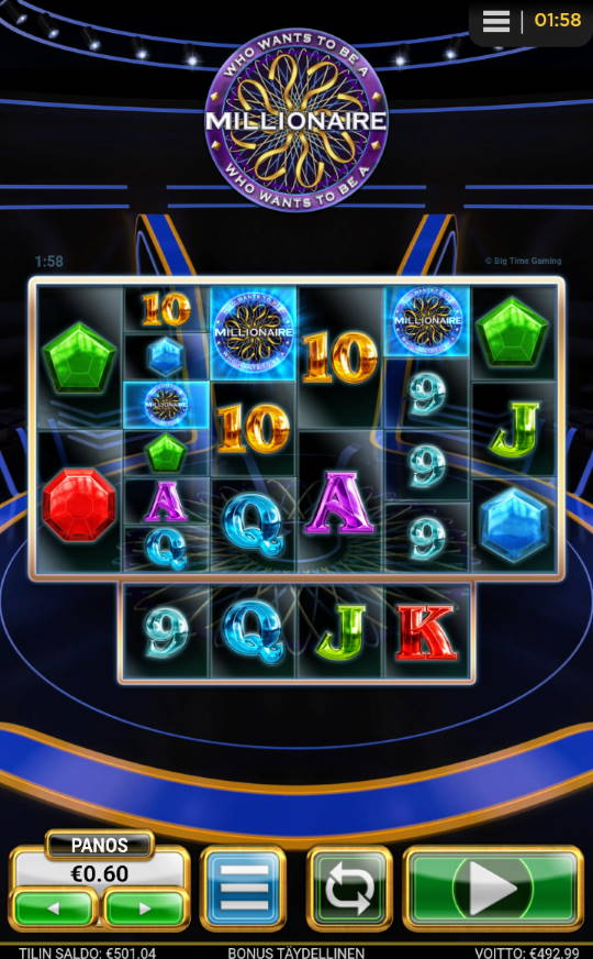 WHo wants to be a millionaire Big Win Picture