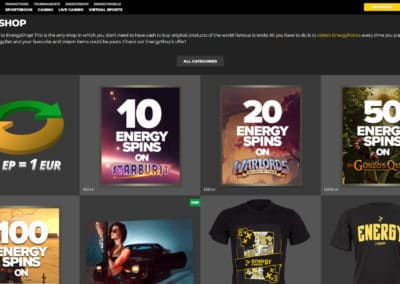 Energy Casino Energy Shop