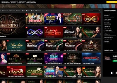 Energy Casino Live Casino Games
