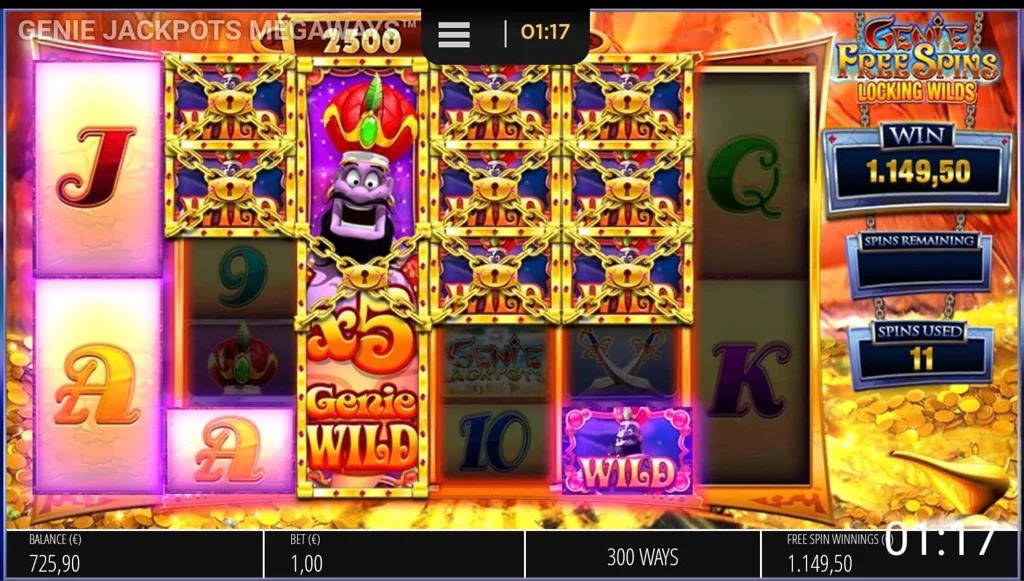 Genie Jackpots Megaways Big Win Picture 2 By Jaakko11
