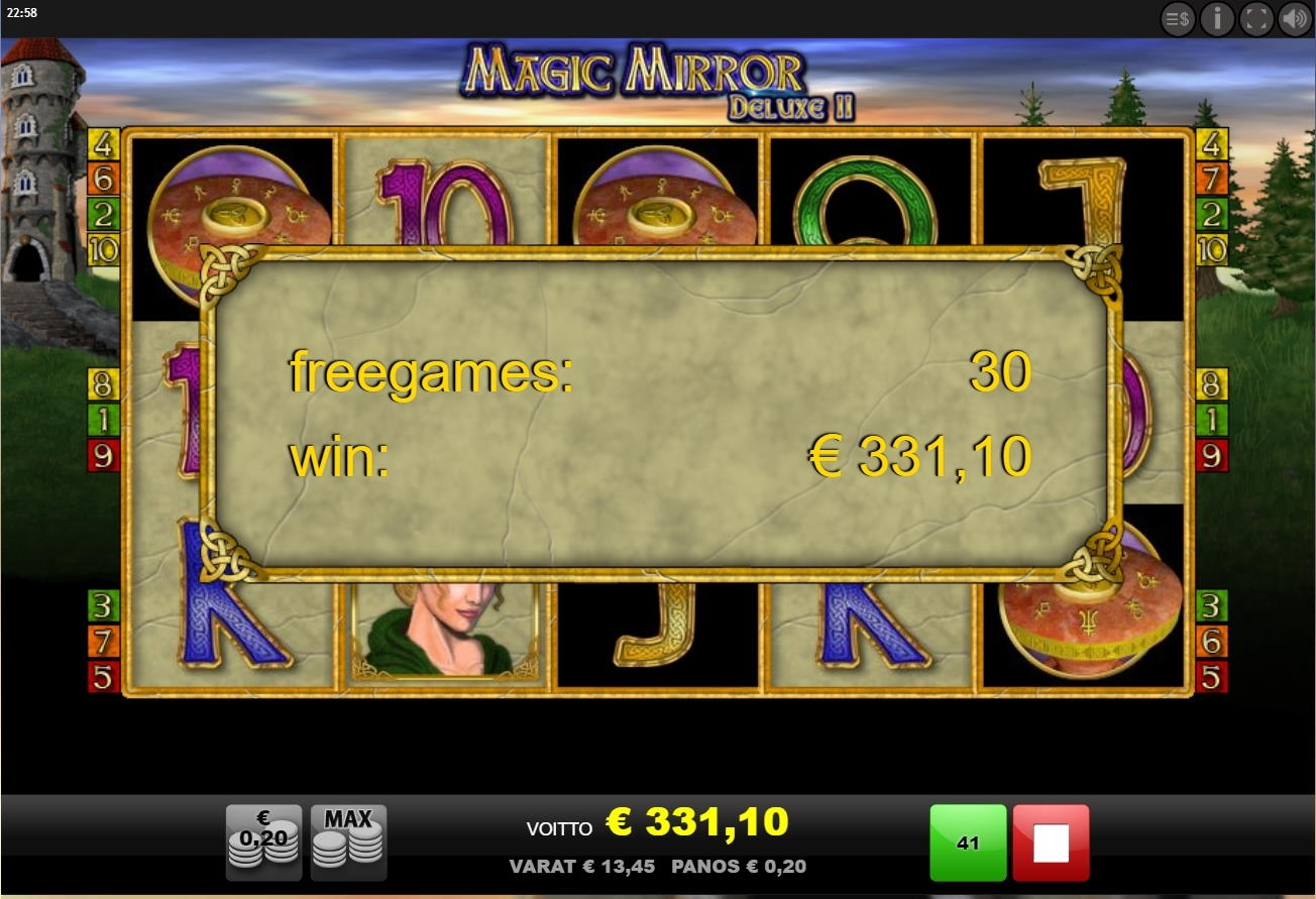 Magic Mirror 2 Deluxe Big Win Picture