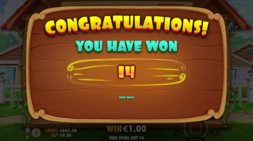 The Dog House Free Spins trigger Result