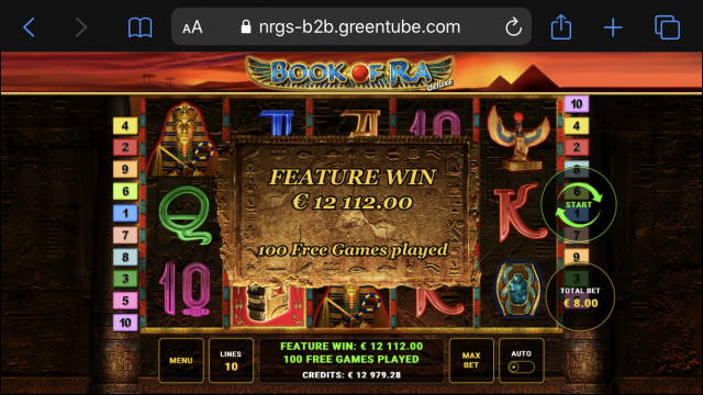 Book of Ra Deluxe big win picture
