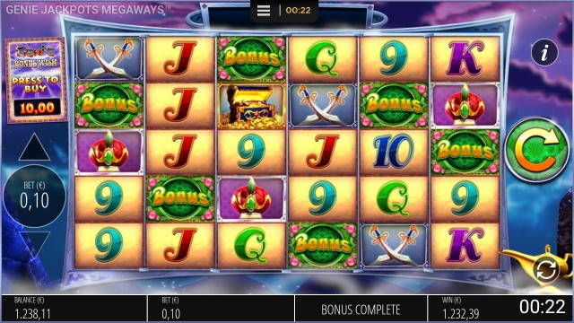 Genie Jackpots Megaways big win picture