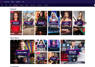 Partycasino Live Casino Games