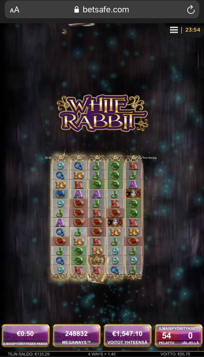 White rabbit big win picture
