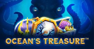 oceans treasure slot logo