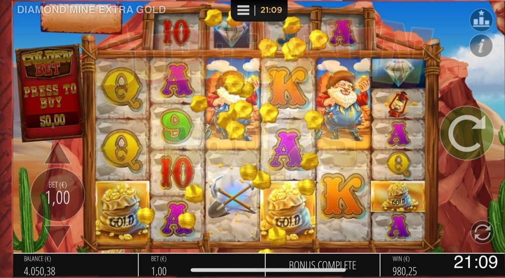 Diamond Mine Extra Gold Big win picture by Jaakko11