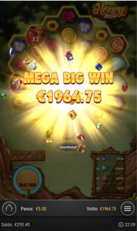 Honey Rush Big win picture by Jaakko11