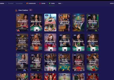 Jinni Casino Live Casino Games