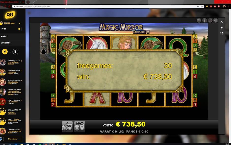 Magic Mirror Delux 2 Big win picture by Wilho