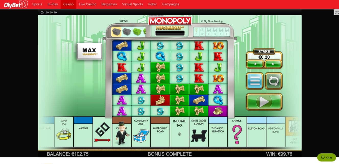 Monopoly Megaways Big win picture by Mrmork666