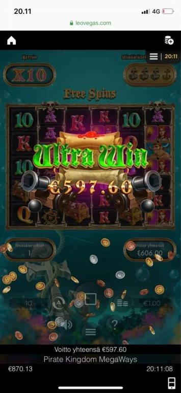 Pirate Kingdom Megaways Big win picture by Jaakko11