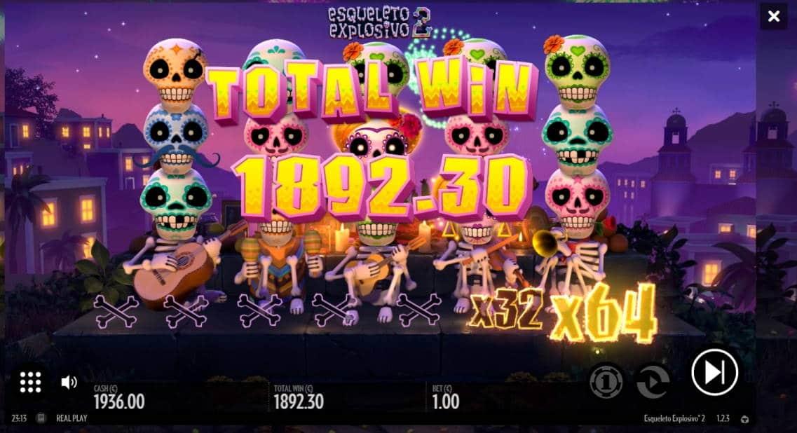 esqueleto Explosivo 2 Big win picture by ShovelHero