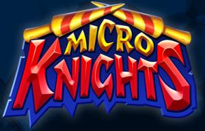 micro knights slot logo