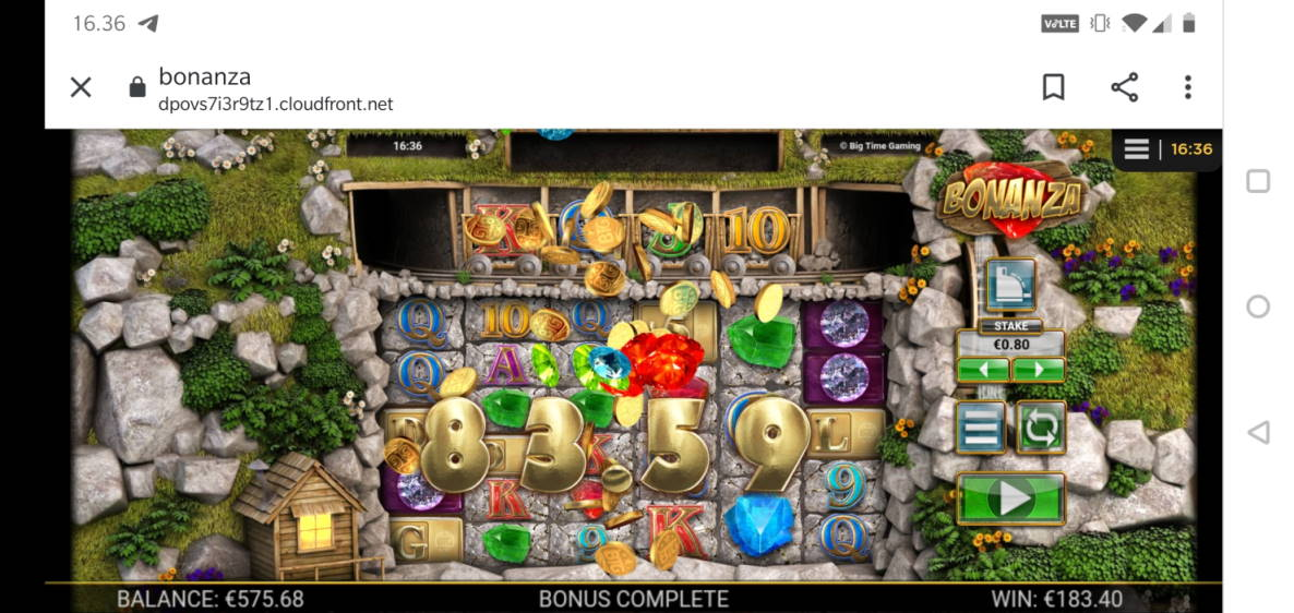 Bonanza Big win picture by Miksuysikuus 8.1.2020 183.40e 229X