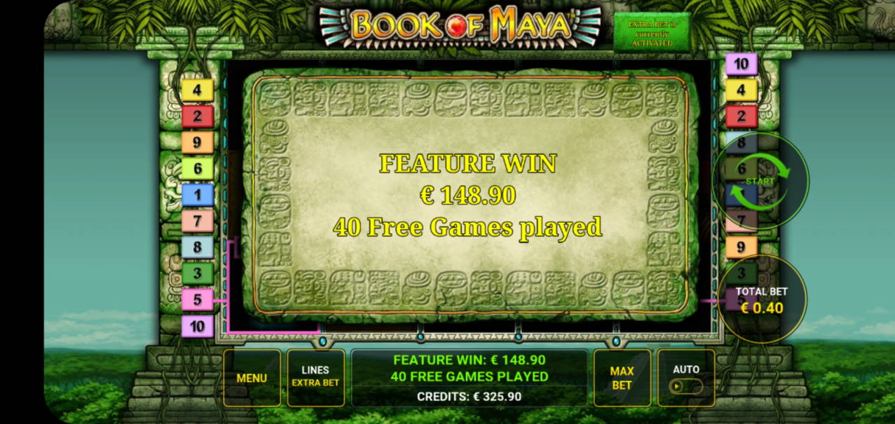 Book of Maya Big win picture by dj_niemi 14.3.2020 148.90e 372X