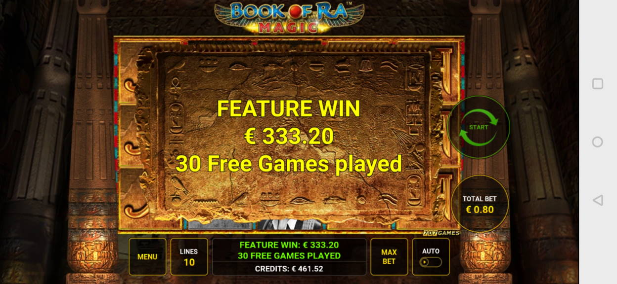 Book of Ra Magic Big win picture by Rikuu 20.2.2020 333.20e 417X