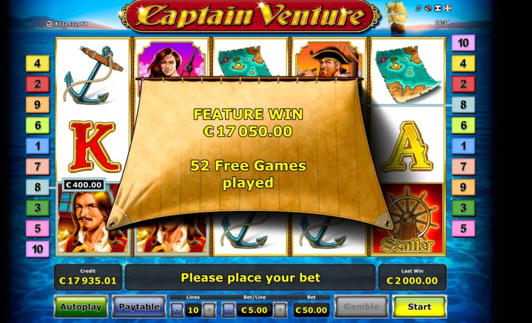 Captain Ventura Big win picture by jarttu84 2.1.2020 17050e 341X