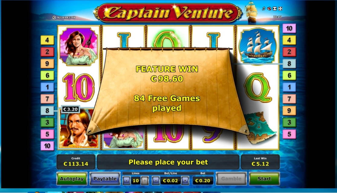 Captain Venture Big win picture by dj_niemi 10.2.2020 98.60e 493X