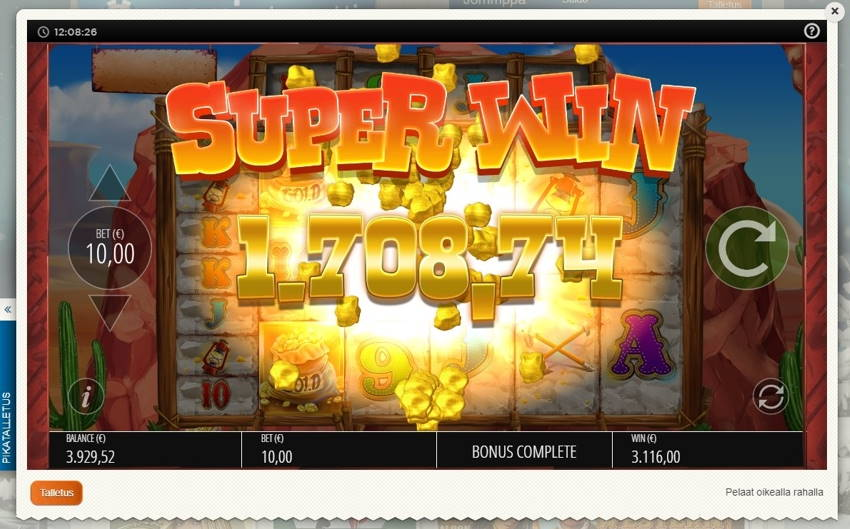 Diamond Mine Big win picture by Jommppa 9.1.2020 3116e 312X Suomi Automaatti