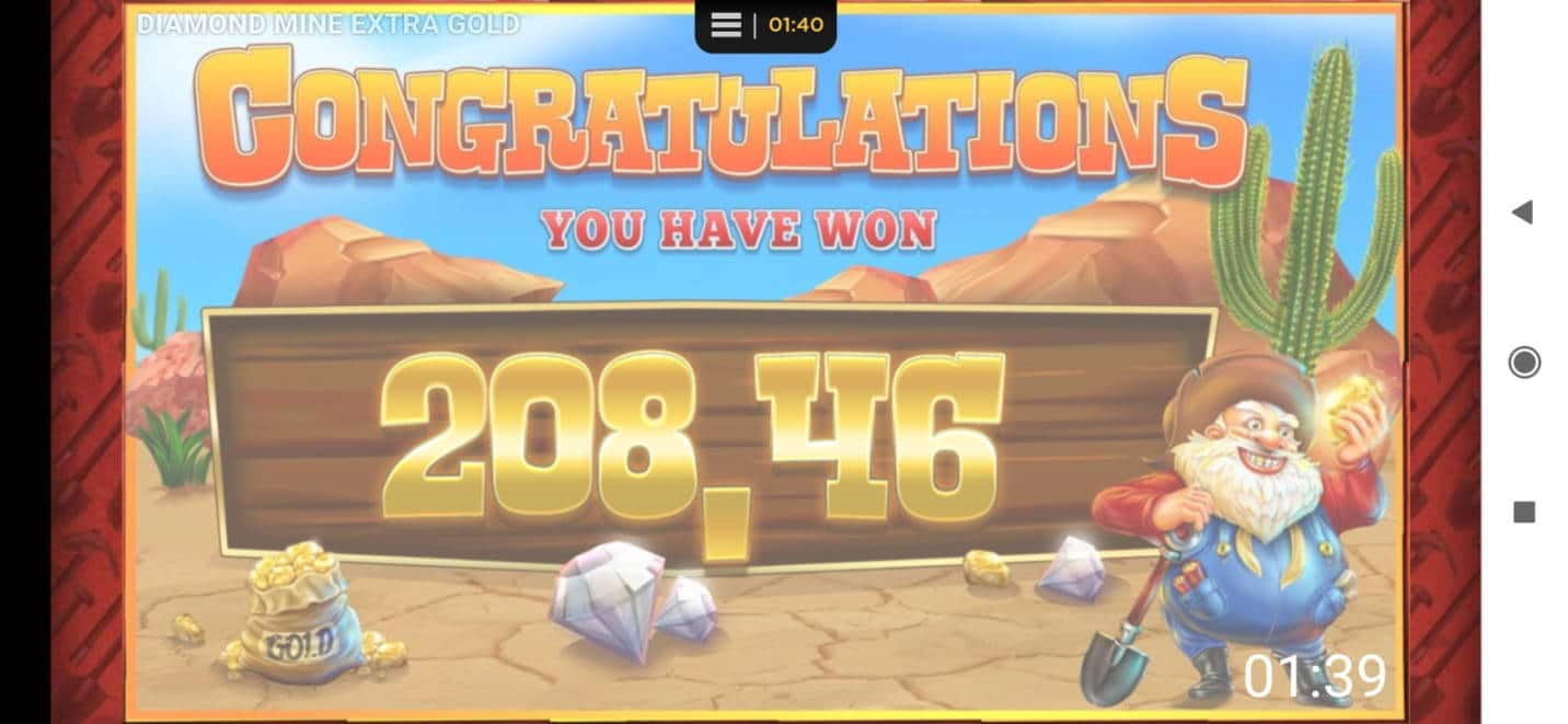 Diamond Mine Extra Gold Big win picture by georpapp 3.3.2020 208.48e 1042X