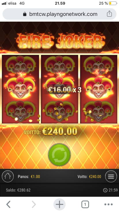 Fire Joker Casino win picture by BotsGu 24.3.2020 240e 240X