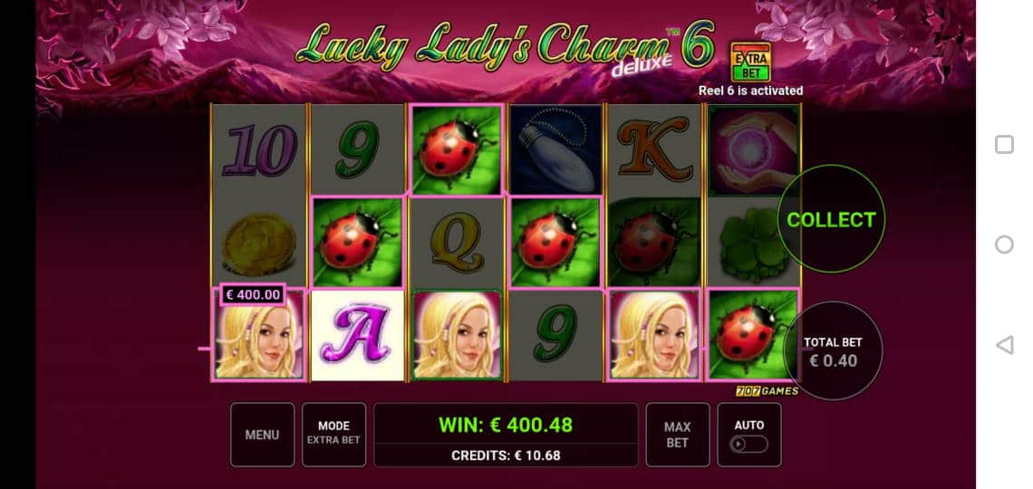 Lucky Ladys Charm 6 Big win picture by Miksuysikuus 8.1.2020 400.48e 1001X