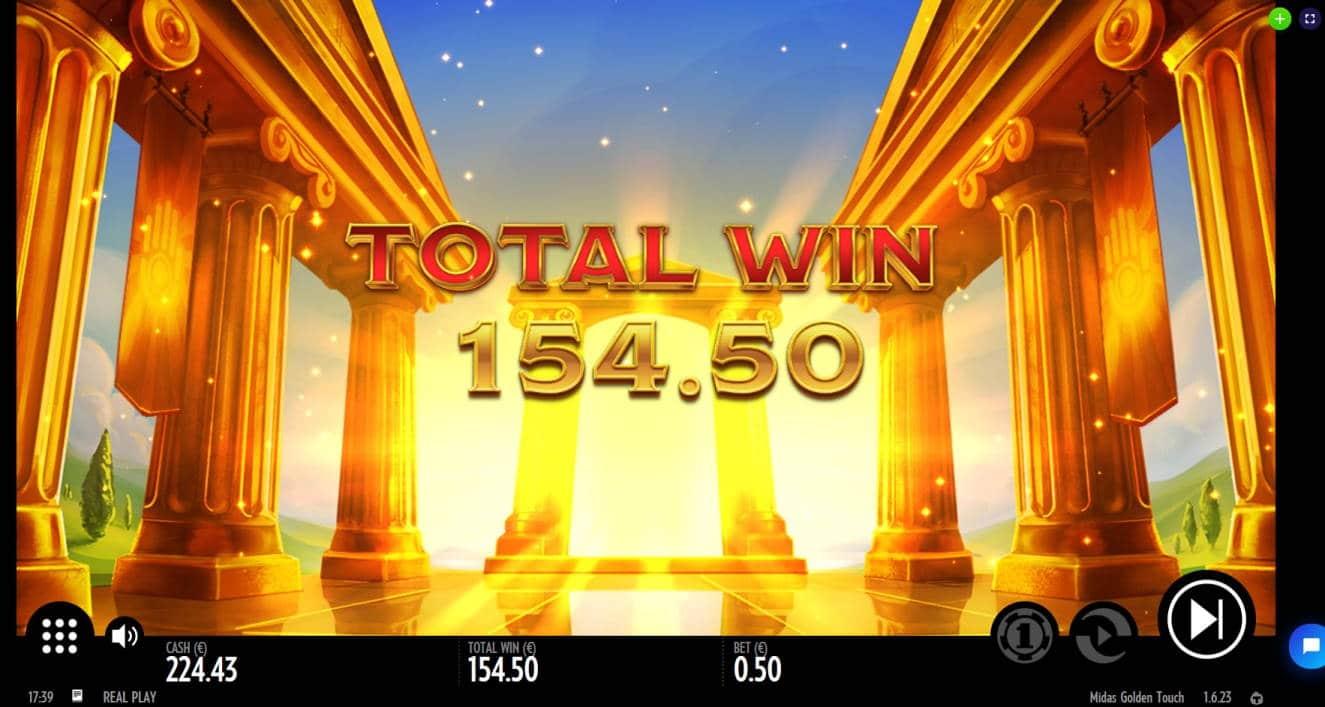 Midas Golden Touch Big win picture by Mrmork666 3.3.2020 154.50e 309X Jinni Casino